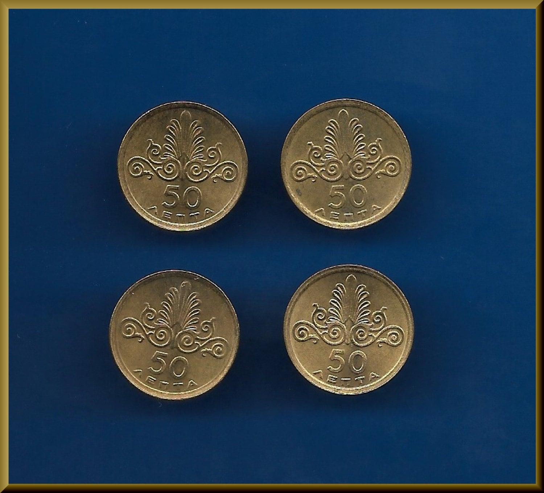 Greece 5 6 coins Phoenix 10  and 20 Drachmai 1973 Pegasus –Athena goddess