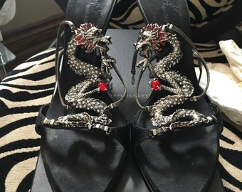 450e378ef94eb Giuseppe Zanotti crystal dragon heels