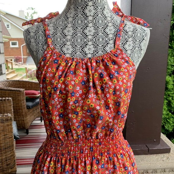 Vintage 1970s calico print slip dress - image 3