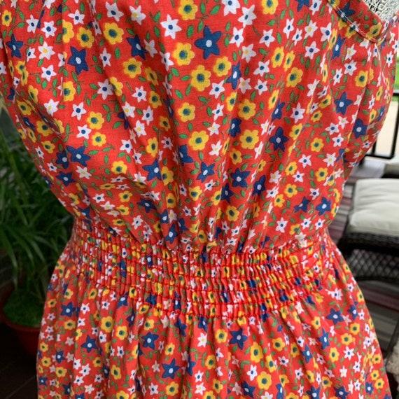 Vintage 1970s calico print slip dress - image 5