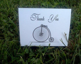 Vintage Bicycle Thank You Card Set