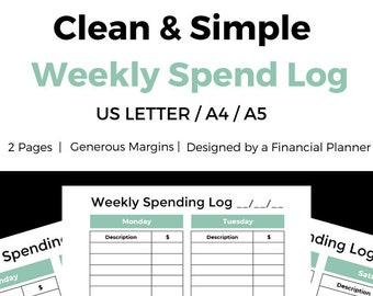 weekly budget etsy