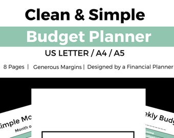 planner financial budget printable budget planner budgeting etsy