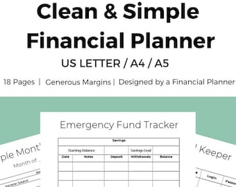personal budget planner financial budget printable etsy