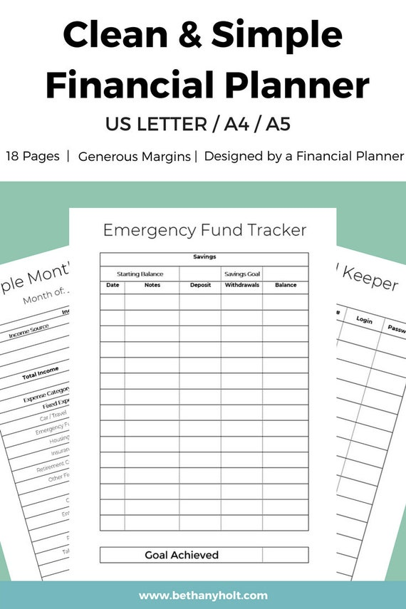 financial planner budget planner finance planner budget etsy