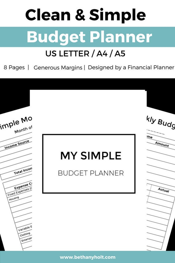 simple budget planner printable