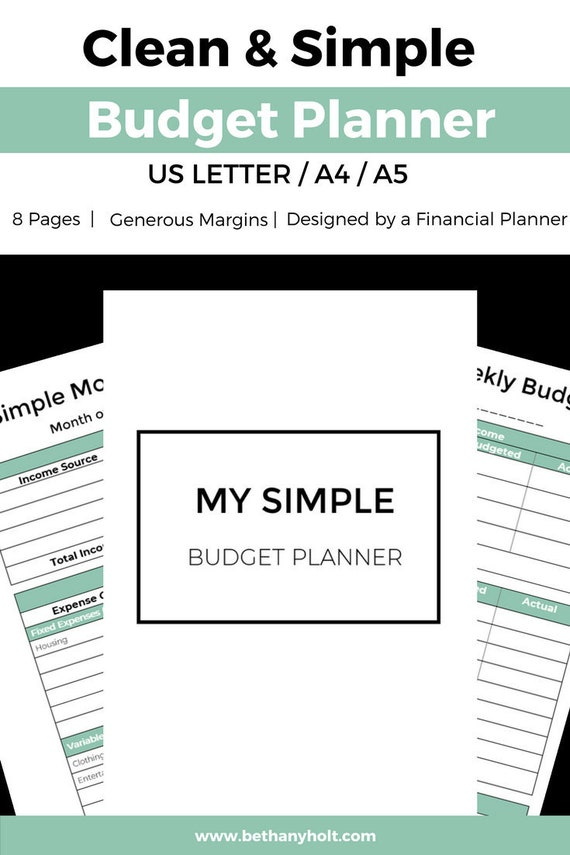 printable budget budget template budget planner monthly etsy