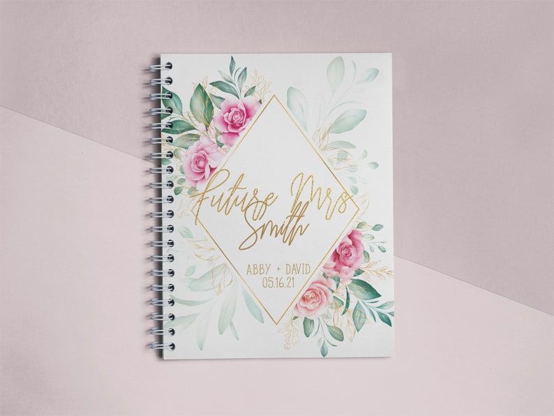 Future Mrs Personalized Plannerr Wedding Planning Notebook Bridal Shower Gift Engagement Gift Bridal Shower Wedding Planner