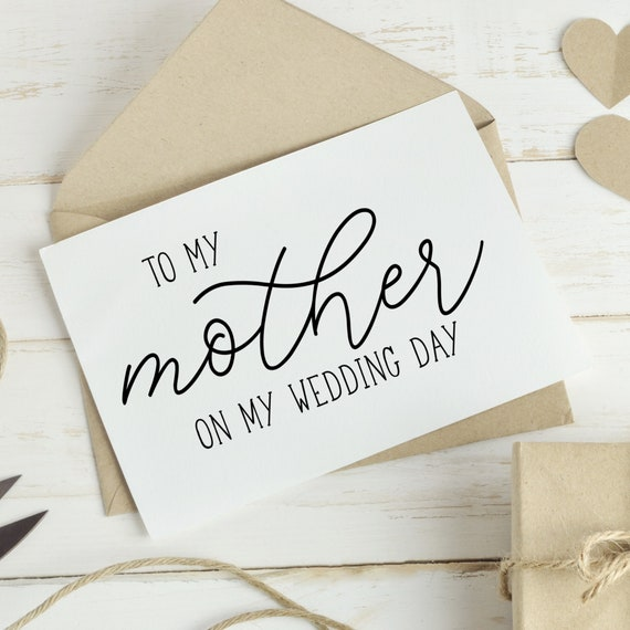 MOG To My Mother On My Wedding Day Card MOB Wedding Card Wedding Gift Mother of the Bride Mother of the Groom Mother Wedding Card