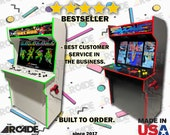 "43"" 4K HD 4 Player Retro Arcade Cabinet Full Size! Slim Arcade Machine Ships Fully Assembled (pi4)"
