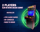 """2 Player RETRO or SLIM  32"""" Arcade Cabinet with Thousands of games ready to play!"""