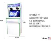 2 Player Retro Arcade Cabinet Full Size! Slim Arcade Machine Ships Fully Assembled (pi4)