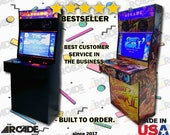 2 Player Slim Arcade Machine Cabinet! Ships Fully Assembled (pi4)