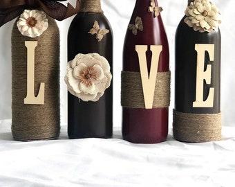 Wine Bottle Decor Etsy