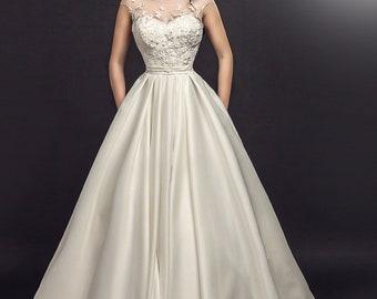 Primavera wedding dress with train