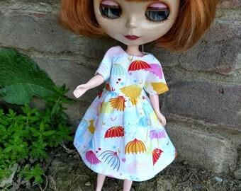 Umbrella Print Dress for Blythe