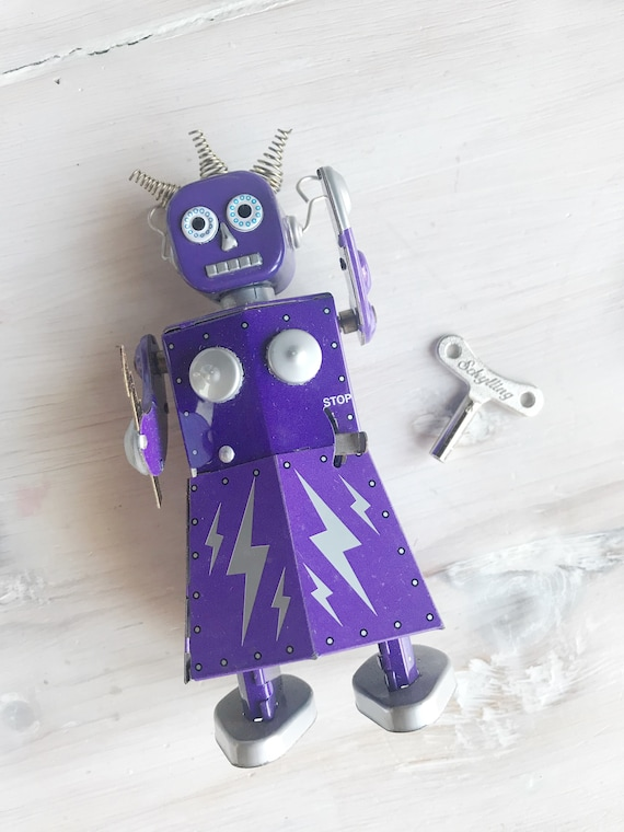 Electra Robot Schylling Collector Series Toy Laden Tin Etsy