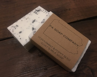 Goat's Milk Soap - Peppermint and Poppy Seed