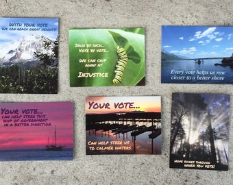 60 Nature Postcards to Voters - 10 each of 6 different designs