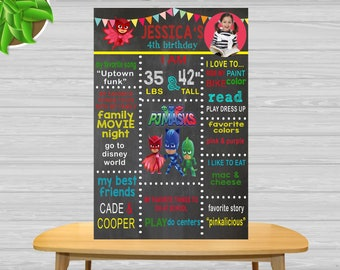 Personalized PJ MASKS Sign PJ Masks Room Decor Wall Art PJ Masks Personalized Wooden Name Sign PJ Masks Birthday Gift