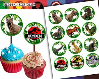 Jurassic World Printable Cupcake Toppers