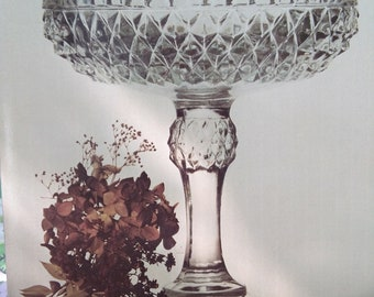 Diamond point tall footed compote