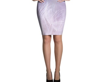 Spring Purple Pencil Skirt