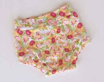 Peach Floral Shorties - Baby Shorties - Toddler Shorties -Baby Bloomers - Baby Summer Clothes - Toddler Gift - Baby Girl Clothes