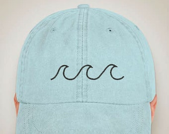 67ee9025568 Wave Cap - Brandy Melville Wave Cap - Wave Dad Hat - Mens Caps - Womens caps  - Custom Embroidered Caps - Tumblr Hat - Instagram Hat - Caps