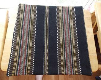 """16"""" Handmade Striped Pillow"""