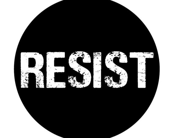 Resist 2.25 Pin Back Button | BLM | Pin back button