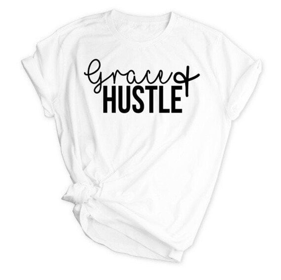 Grace and Hustle Shirt, Bossbabe, Mom Boss, Small Business Owner, Hustle and Heart, Work Hard Hustle Harder, Hustle, Hustle Mode, Girl Boss