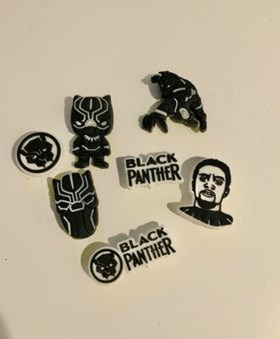 Black Panther Shoe Charms | Wakanda Shoe Charms | Shoe Charms| RIP Black Panther