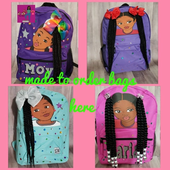 Made to Order Real Hair backpack. Design your real hair bag