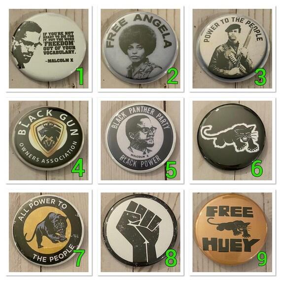 "Black Panther Party |  #BLM | Black Lives Matter | 2.25"" Pinback Buttons"