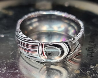 Resin Stabilized Fordite Ring