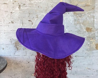 Solid Color Wizard Witch Hat