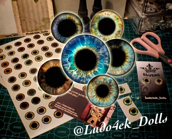 Blyth Eye Chips Dolls Eyes DIY Doll Eye Patch Toys Crafts Accessories 1 Pair