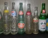 Vintage Pop Bottles, Soda Bottles, Pepsi, Tab, 7up, Royal Crown, Frostie, Double Cola, Dr. Pepper