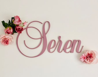 Scripted Wall Name Letters 30cm