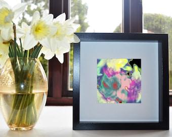 Marbled Flowers Art Print