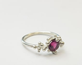 Bubbly Pink Tourmaline ring