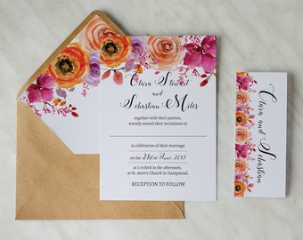 Personalized Wedding Invitation Reception Evening Cards Timeless Love #4 - RSVP and Envelope included! Full customization!