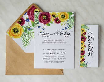 Personalized Wedding Invitation Reception Evening Cards Timeless Love #2 - RSVP and Envelope included! Full customization!