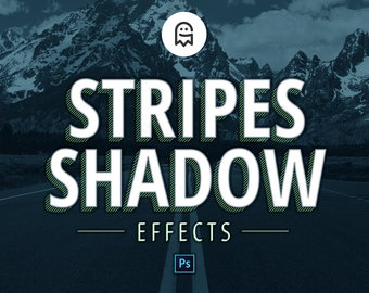 Stripes Shadow Effects for Photoshop