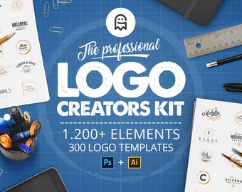 The Professional Logo Creators Kit - 1200 logo templates, 300 logo templates and more for Photoshop & Illustrator