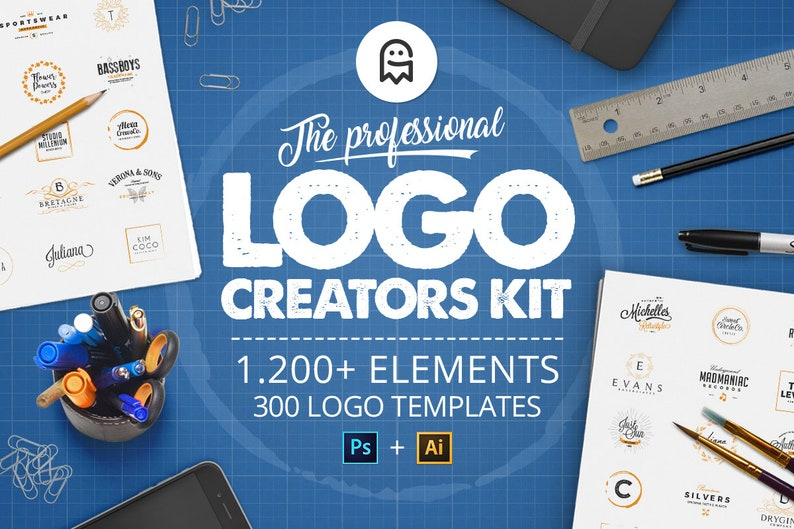 The Professional Logo Creators Kit  1200 logo templates 300 image 1