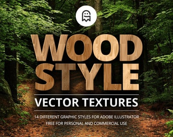 Wood Style Vector Textures for Illustrator / Textures / Wood Texture / Wood Effect / Wooden Effect / Nature / Natural