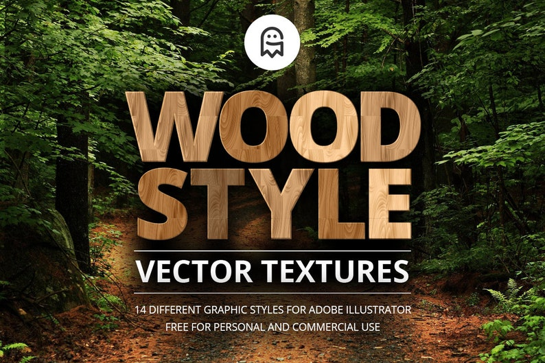 Wood Style Vector Textures for Illustrator image 0