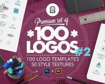 Premium Set of 100 Logos 02